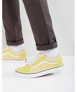 Vans | Желтые Парусиновые Кроссовки Old Skool Va38g1oux