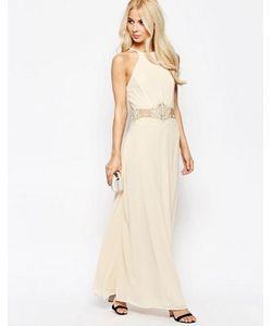 JARLO | Платье Макси С Халтером И Отделкой Кроше
