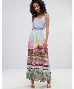 Uttam Boutique | Платье Макси С Принтом И Поясом