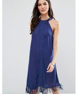 Anmol | Пляжное Платье Мини С Высокой Горловиной