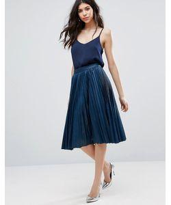 Closet London | Pleated Midi Skirt In Washed Pu