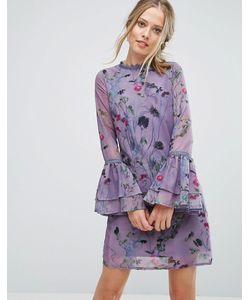Little Mistress | Свободное Платье С Цветочным Принтом И Кружевной Отделкой