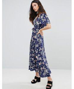 Liquorish | Платье Макси С Запахом И Цветочным Принтом