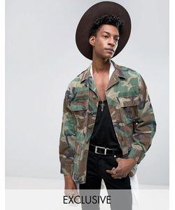 Reclaimed Vintage | Куртка В Стиле Милитари С Камуфляжным Принтом