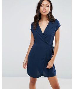 TFNC | Wrap Over Shirt Dress