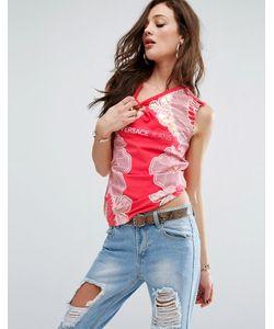 Versace | Футболка С Цветочным Принтом И Логотипом Jeans