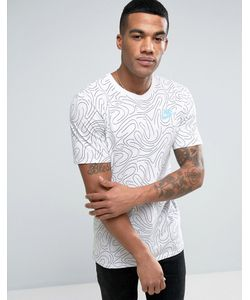 Nike | Футболка С Принтом В Виде Завитков 834699-100