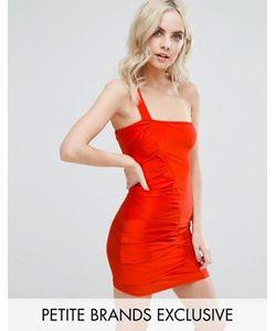 NaaNaa Petite   Платье Мини На Одно Плечо С Присборенной Отделкой