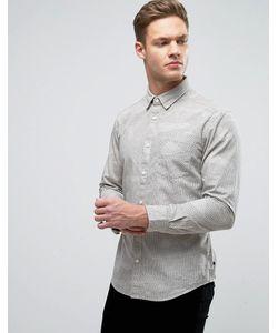 Esprit | Узкая Оксфордская Рубашка С Воротником На Пуговицах И Цветочным Принтом