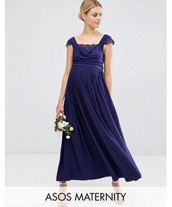 ASOS Maternity | Платье Макси Для Беременных С Кружевными Вставками Wedding