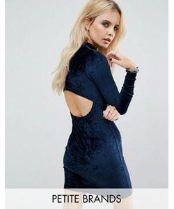 Noisy May Petite | Бархатное Облегающее Платье С Вырезом На Спинке