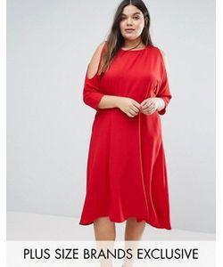Closet Plus | Приталенное Платье С Вырезами На Плечах