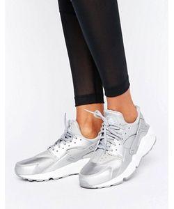 Nike | Серебристые Кроссовки Для Бега Air Huarache
