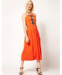 Sophia Kokosalaki | Платье Миди С Декоративной Кружевной Вставкой Kore By