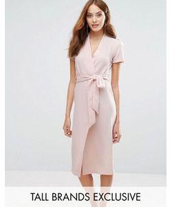 Alter Tall | Платье С Запахом Спереди И Поясом