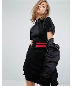 Cheap Monday | Платье С Высокой Горловиной И Полосой Сбоку