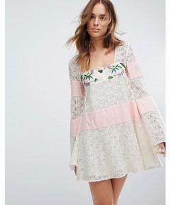 MAJORELLE | Кружевное Платье С Вышивкой