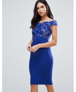Jessica Wright | Платье Миди С Широким Вырезом И Кружевом