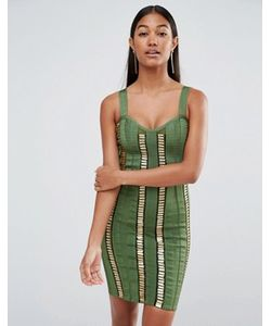 WOW Couture | Платье С Золотистыми Планками