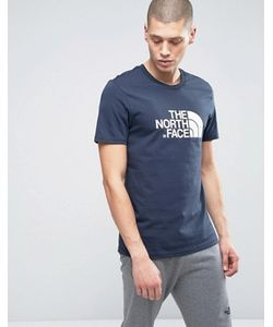 The North Face | Темно-Синяя Футболка С Большим Логотипом