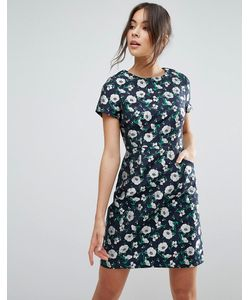 Uttam Boutique | Жаккардовое Платье-Трапеция С Цветочным Принтом