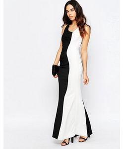 Jessica Wright | Черно-Белое Платье Макси Deelia