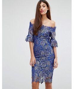 Paper Dolls | Paperdolls Lace Bardot Midi Dress