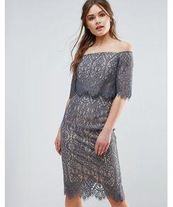 Coast   Кружевное Платье С Вырезом Лодочкой Marsha