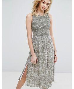 Abercrombie and Fitch | Платье Миди С Высоким Вырезом