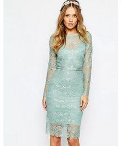 Body Frock | Свадебное Платье Мятного Цвета С Отделкой На Поясе