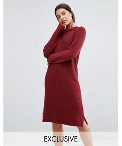 Micha Lounge | Красное Платье-Джемпер Букле