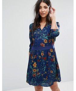 Lavand. | Короткое Приталенное Платье С Принтом И Длинными Рукавами Lavand