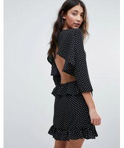 Unique 21 | Платье Мини С Открытой Спиной И Оборками