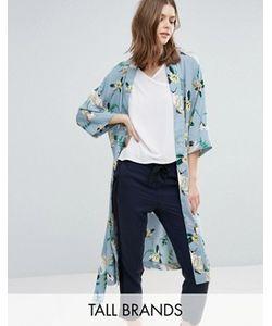 Y.A.S Tall   Crane Printed Kimono Wrap