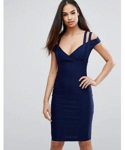 Vesper | Платье-Футляр С Глубоким Вырезом В Форме Сердца И Ремешками