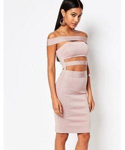 WOW Couture | Бандажное Платье С Открытыми Плечами
