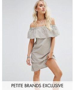 Noisy May Petite | Платье Мини В Полоску С Открытыми Плечами
