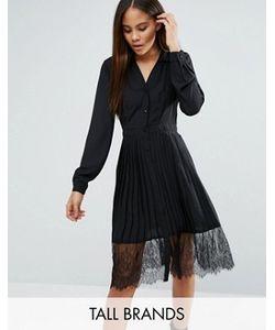 Vero Moda Tall | Платье-Рубашка Плиссе С Кружевом