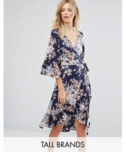 Vero Moda Tall | Платье С Цветочным Принтом И Запахом
