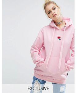 Adolescent Clothing | Oversize-Худи С Вышитой Розой