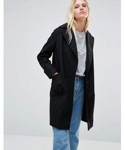 Cooper & Stollbrand | Черное Пальто Drop Break