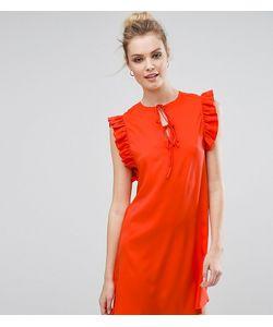 Fashion Union Tall   Платье С Оборкой И Завязками