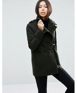 Asos | Пальто Из Смесовой Шерсти С Отлетной Кокеткой