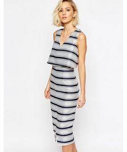 Lavish Alice | Структурированное Облегающее Платье В Полоску С Укороченным Топом