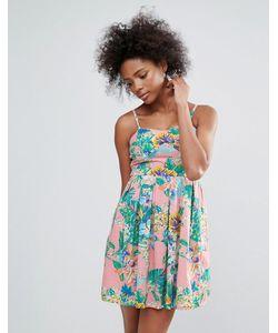 Urban Bliss | Легкое Платье С Тропическим Принтом
