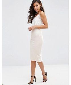Asos | Платье-Комбинация Миди С Мягким Топом