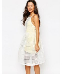 MISSGUIDED | Сетчатое Платье Для Выпускного С Контрастной Подкладкой