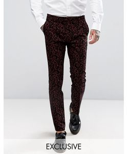 Noose & Monkey | Super Skinny Suit Trouser With Flocking