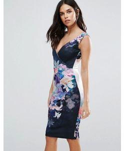Jessica Wright | Платье Миди С Цветочным Принтом