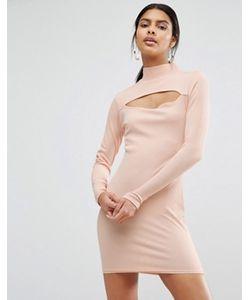 Daisy Street | Облегающее Платье С Высокой Горловиной И Вырезом
